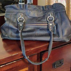 Pebble leather coach shoulder bag